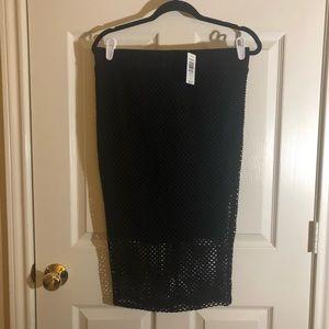 Black Mesh Ponte Pencil Skirt brand new size 00
